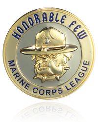 Marine Corps Challenge Coins, Custom Shaped Challenge Coins