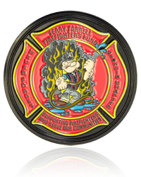 Firefighter Challenge Coins, Challenge Coins, Military Coins