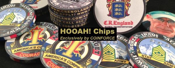 HOOAH! Chips, Military Poker Chips, Poker Chips