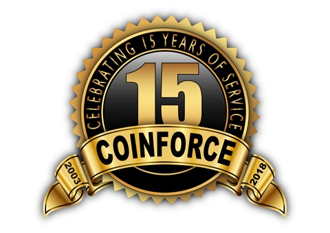 It's COINFORCE's 15th Anniversary Serving Those Who Serve. Challenge Coins, Military Coins